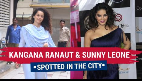 Kangana Ranaut and Sunny Leone papped in the city
