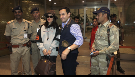 Taimur spotted asleep at the airport with Kareena Kapoor Khan and Saif Ali Khan