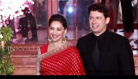 Spotted! Rekha & Madhuri Dixit at a wedding reception