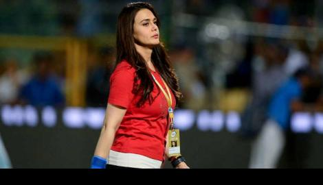Bollywood actress Preity Zinta casts her vote