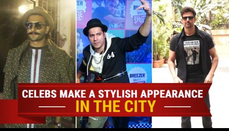 "Ranveer Singh and Varun Dhawan snapped in the city along with 'War"" actor Hrithik Roshan"