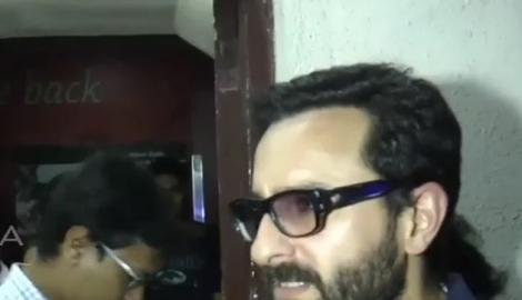 Saif Ali Khan watches Aamir Khan's Dangal!