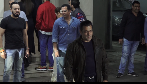 Salman Khan looks handsome and stylish as he makes an appearance at his birthday bash