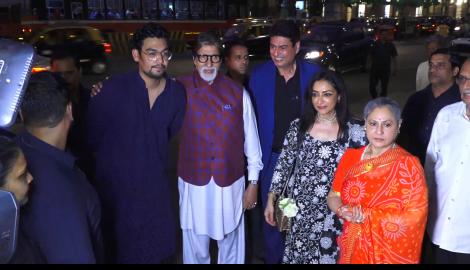 Amitabh Bachchan and Jaya Bachchan inaugurate Aditiya Singh's art exhibition; Diana Penty spotted at an event