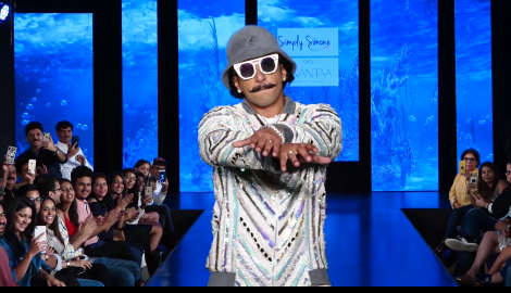 Ranveer Singh is high on energy as he walks the ramp