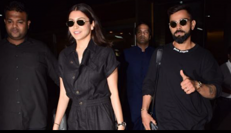 Anushka Sharma and Virat Kohli made the heads turn as they twinned at the airport