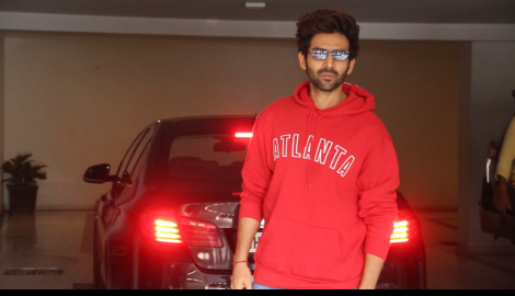 Kartik Aaryan and Ananya Panday get papped at Dostana 2 producer Karan Johar's residence