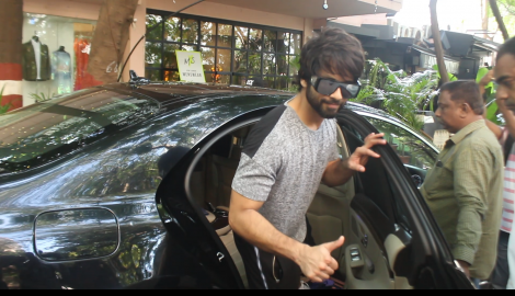 Shahid Kapoor spotted outside his gym post workout