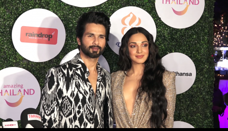 Kabir Singh co-stars Shahid Kapoor and Kiara Advani make a stylish appearance at an event