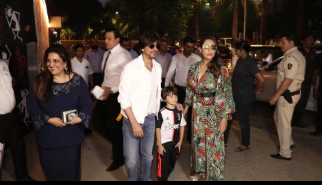 Shah Rukh Khan, Gauri Khan, AbRam and other celebrities with kids spotted at Aaradhya Bachchan's birthday bash
