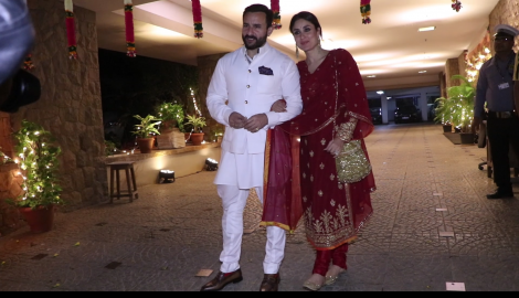 Saif Ali Khan and Kareena Kapoor Khan spotted post Armaan Jain's roka ceremony