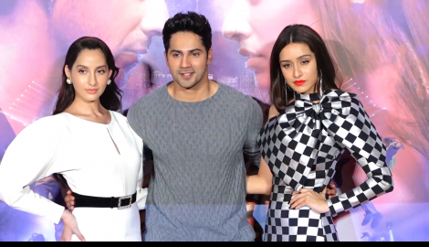 Varun Dhawan and Shraddha Kapoor share a great camardarie at the Street Dancer 3D trailer launch event