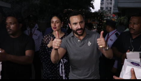Kareena Kapoor Khan and Saif Ali Khan make a sweet gesture towards media at son Taimur's pre birthday bash