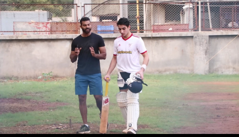 Ibrahim Ali Khan gets papped post his cricket practice