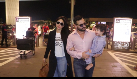 Kareena Kapoor Khan, Saif Ali Khan and son Taimur giving us major airport inspirations