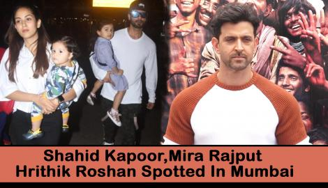 Shahid Kapoor with wife Mira Rajput ;Hrithik Roshan for Super 30 promotions and other celebs spotted in Mumbai