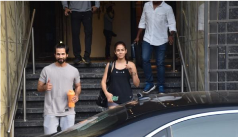Shahid Kapoor and Mira Rajput get spotted as they step out after their workout session