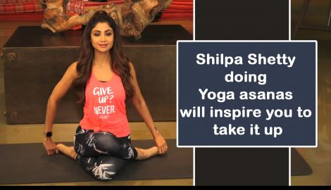 Shilpa Shetty celebrates International Yoga Day with CISF, CRPF and NCC cadets and officials