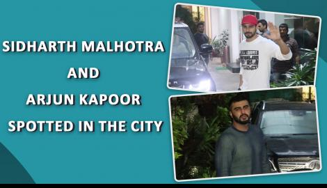 Sidharth Malhotra and Arjun Kapoor make a stylish appearance in the city
