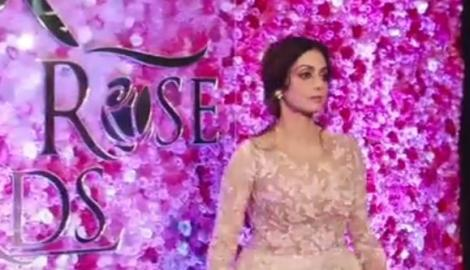 Charming Sridevi and Madhuri glam up the Golden Rose Awards night!